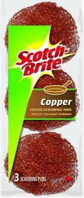 3PK COP Scouring Pad (Copper Scrubber Pads compare prices)