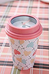mug clock pink