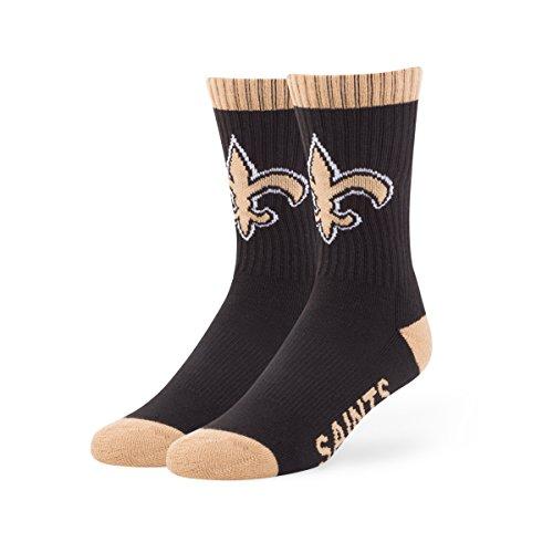 NFL New Orleans Saints '47 Bolt Sport Socks, Black, Large (Men's 9-13 / Women's 10-12), 1-Pack (New Orleans Saints Fan Gear compare prices)