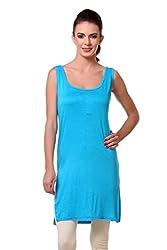 TeeMoods Womens Night Shirt Top_TM-1613TURQ-S