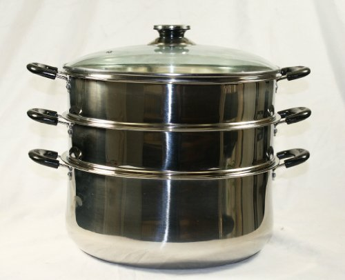 30 CM Stainless Steel 3 Tier Steamer Pot Steaming Cookware (Chinese Steamer compare prices)