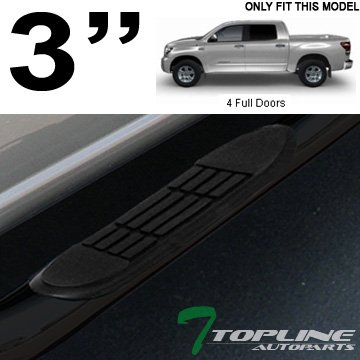 "3/""Chrome Round Side Step Bar//Running Board for 07-16 Toyota Tundra CrewMax Cab"