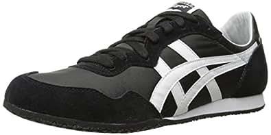 Onitsuka Tiger Serrano Classic Running Shoe, Black/White, 4 M US