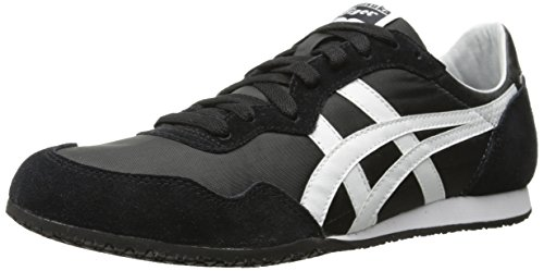 Onitsuka Tiger Serrano Classic Running Shoe, Black/White, 7 M US