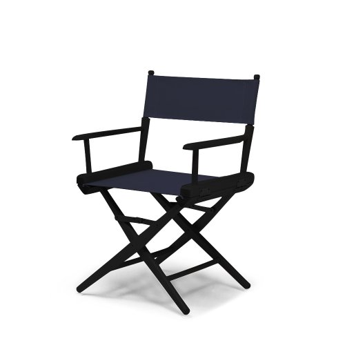 Telescope Casual World Famous Dining Height Director Chair, Navy with Black Frame