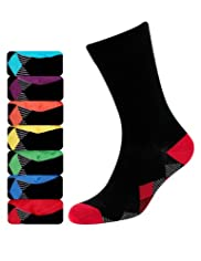 7 Pairs of Freshfeet Cotton Rich Diamond Print Socks with Silver Technology [T10-1249S-S]