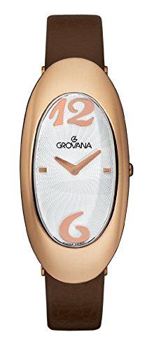 GROVANA - 4414.1562 - Montre Femme - Quartz Analogique - Bracelet Cuir Marron