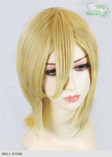 スキップウィッグ 魅せる シャープ 小顔に特化したコスプレアレンジウィッグ シャイニーミディ バナナミルク