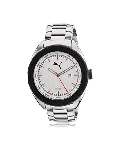 Puma Men's PU103261001 Silver/White Stainless Steel Watch