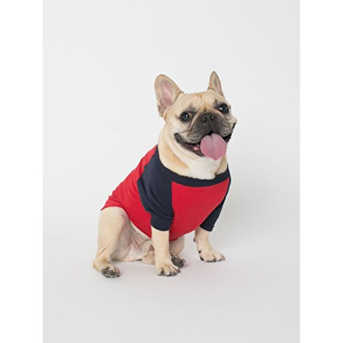 american-apparel-two-tone-3-4-sleeve-dog-t-shirt-l-red-navy