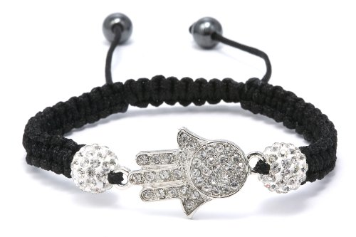 Authentic Diamond Color Crystals Hamsa Hand Adjustable Bracelet, Now At Our Lowest Price Ever but Only for a Limited Time!