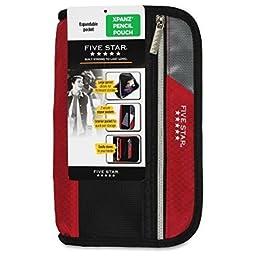 Five Star Xpanz Carrying Case (Pouch) for Pencil, Pen, Supplies - Assorted Colors- Puncture Resistant