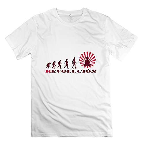 Tianyi Create Men Revolution Tee Shirts Sizem Colorwhite