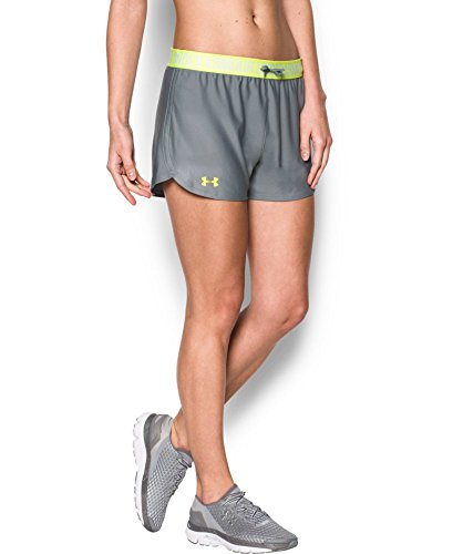 Under Armour Women's Play Up Shorts, Steel (039), X-Large