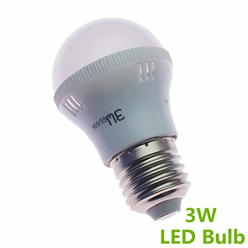 Happiness At Home 2Pcs Pack E27 3W 210Lm Globe Led Mini Ball Bulbs Energy Saving Lamps Ac100-220V (Warm White)
