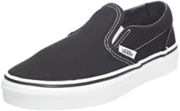 Vans Boys\' Classic Slip-On - Black - 12 Toddler