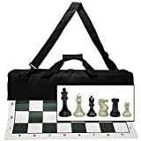 41ppkw0Jo3L. SL160  Wood Expressions Deluxe Tournament Chess Set with Canvas Bag &amp; Triple Weighted Chessmen with 4 King