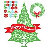 Purlees Christmas PREMIUM CLASSIC LARGE Christmas window display decorative stickersby Purlees