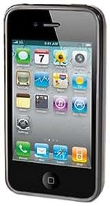 MUVIT - Muvit coque minigel grise ondes avec film pour iPhone 4 / 4S