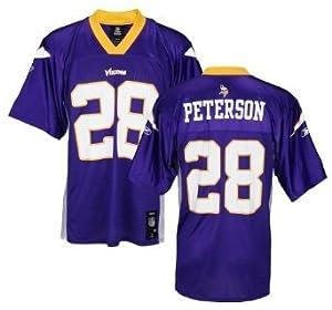 Reebok Minnesota Vikings NFL ADRIAN PETERSON # 28 Mens Mid Tier Jersey, Purple XL by NFL Players