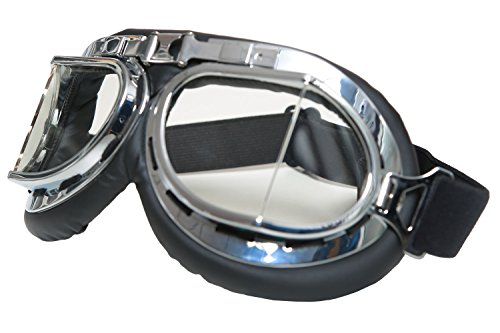 Mad-Max Nux Goggles Vintage Anti-dust Motorcycle Glasses Adjustable Strap 3