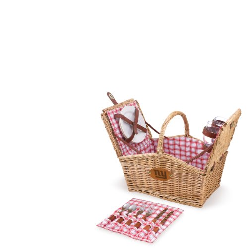 NFL New York Giants Piccadilly Picnic Basket with Service for Two at Amazon.com