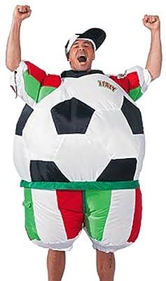 Sparmeile 25705k - Aufblasbares Kostm Italien Fuball Inkl Kappe bei aufblasbar.de