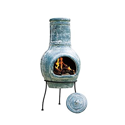 La Hacienda 98cm Blue Band Clay Chimenea Deluxe Rain Cover - Model 67068