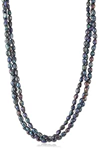 Peacock Freshwater Cultured Pearl Endless Necklace (6-7mm), 100""