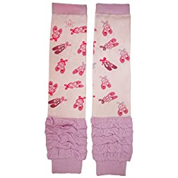 Huggalugs Girls Dance Slippers Leg Warmers