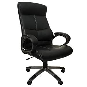 Merax High Back Leather Office Chair Black