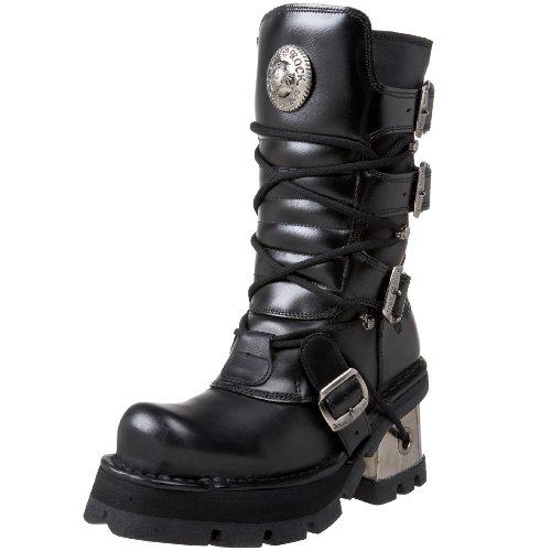 New RockM.373-s3 - Stivali da Motociclista Unisex adulti , Nero (nero), 39 1/3 EU