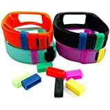 Secure Silicon Ring for Garmin Vivofit to Fix the Band Clasp Fall Off Problem (mixed colors of 7)