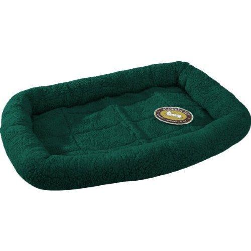 Slumber Pet Sherpa Dog Crate Bed, Medium/Large, Forest Green front-561019