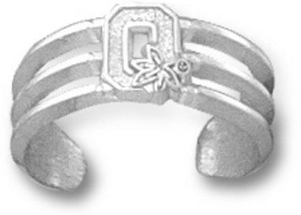 Ohio State Buckeyes OSU NCAA Sterling Silver Toe Ring 1/4