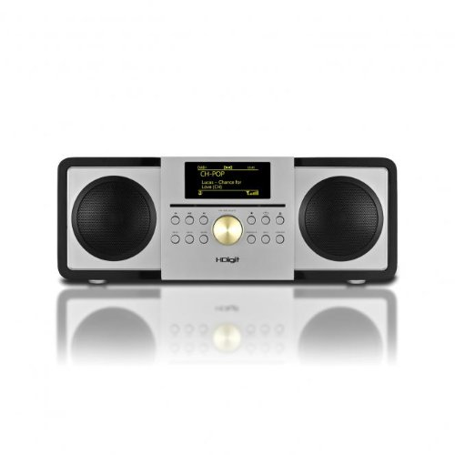 Slicer DAB DAB Internetradio mit iPod iPhone Dock CD und LED Display Schwarz