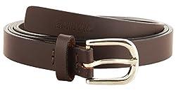 Garvan Women's Brown Leather Belt (LBW 3-Brown-C, Size : 34)