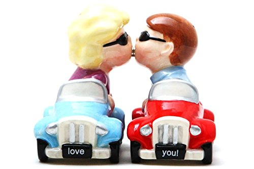 Salt & Pepper Shakers Set - CARS New Ceramic Kitchen Gifts 8790
