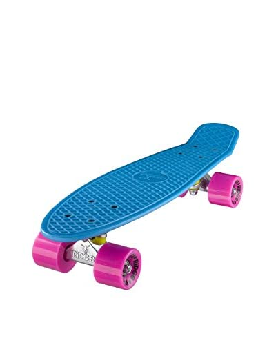Ridge Skateboards Monopatín Original 22 Mini Cruiser Azul / Fucsia
