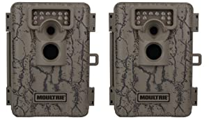 Pair MOULTRIE Game Spy A-5 Low Glow Infrared Digital Trail Hunting Cameras - 5 MP