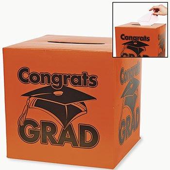 1 X Congrats Grad Orange Card Box