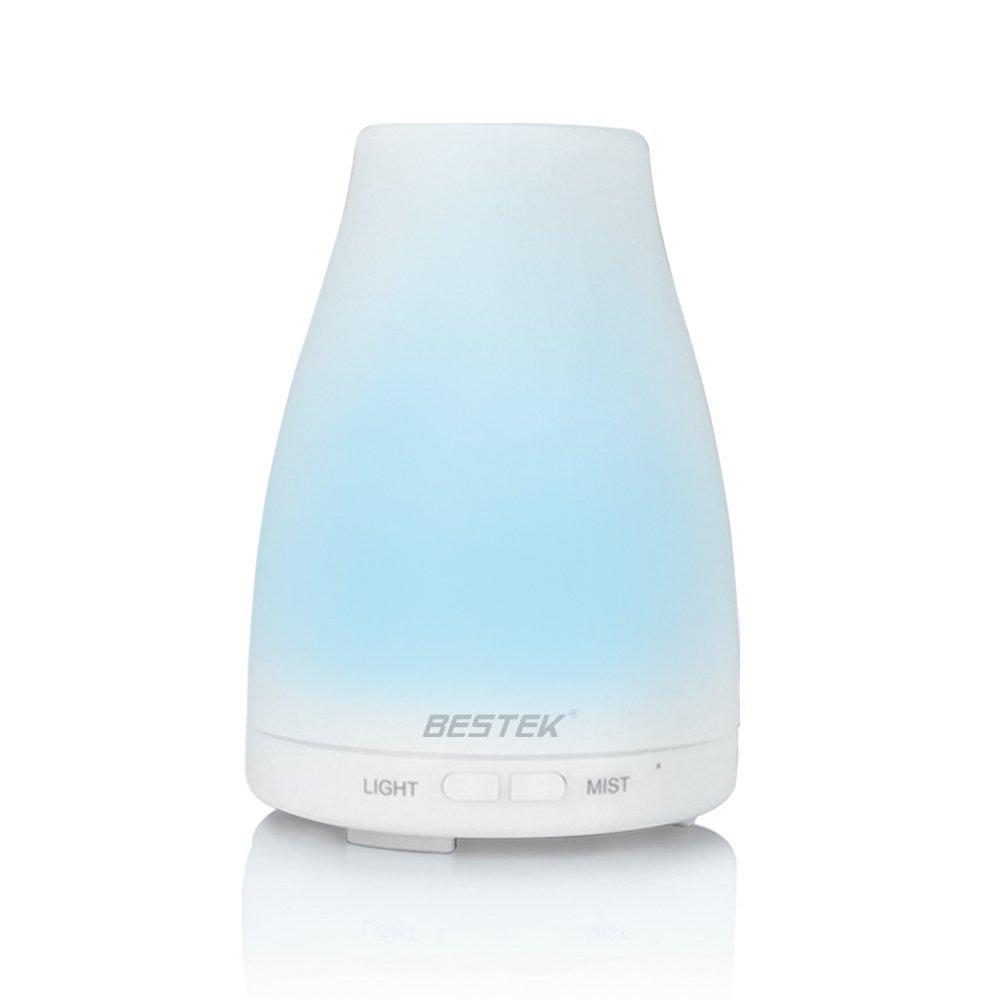BESTEK アロマディフューザー 超音波式 加湿器 アロマ ライト 多色変換LED付き Aroma diffuser BTODLM008
