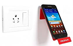 Riona Bathroom/Kitchen Wall Mobile Holder/Stand - MobiHold A7L Red MH-A7L-R