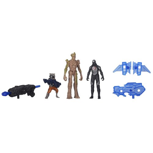 Marvel Guardians of The Galaxy Groot, Rocket Raccoon and Sakaaran Trooper Figure Pack - 1