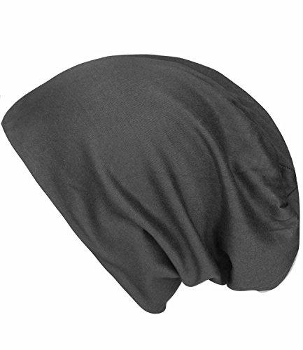 caripe leichte Long Beanie Mütze unisex viele Farben - su99 unifarben (anthrazit - sm-103) thumbnail