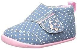 Carter\'s Every Step Christy Stage 2 Girls Slip-On Shoe (Infant/Toddler), Blue/Light Pink, 3 M US Infant