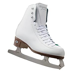 Riedell 119 Emerald Ladies White Figure Ice Skates by Riedell