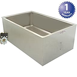 APW Wyott UR Listed Bottom Mount Insulated Hot Food Well with Drain and Square Corner, 8 5/16 x 13 13/16 x 21 3/4 inch -- 1 each.