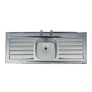 ... Stainless Steel Double Drainer Kitchen Sink: Amazon.co.uk: DIY & Tools