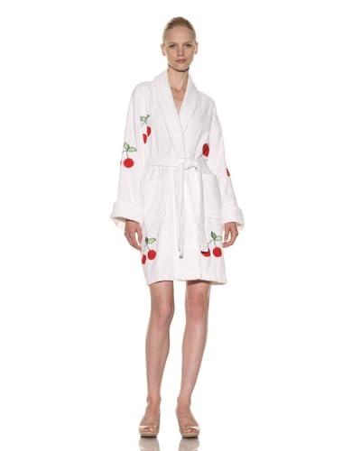Aegean Apparel Women's All Over Cherries Applique Robe